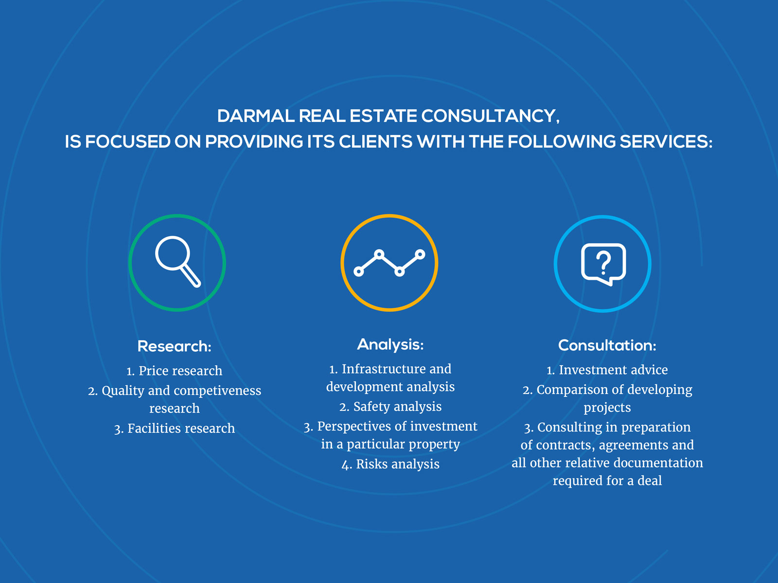 Darmal Group brochure page design in Dubai