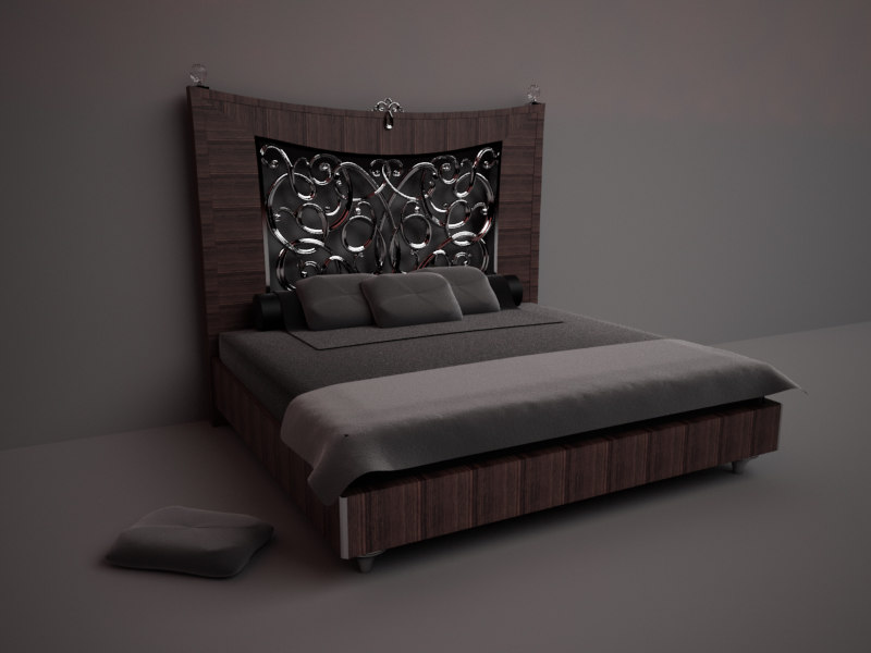 3D Design Bed render