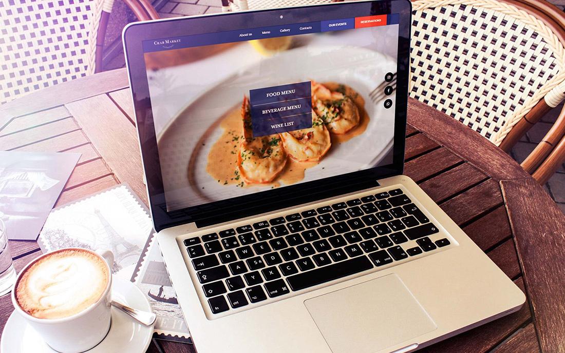 Сайт Ресторана Crab Market - Студия Дизайна Тесселла