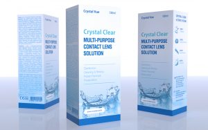 Crystal Clear Contact Lens Solution - Tessella Design Studio