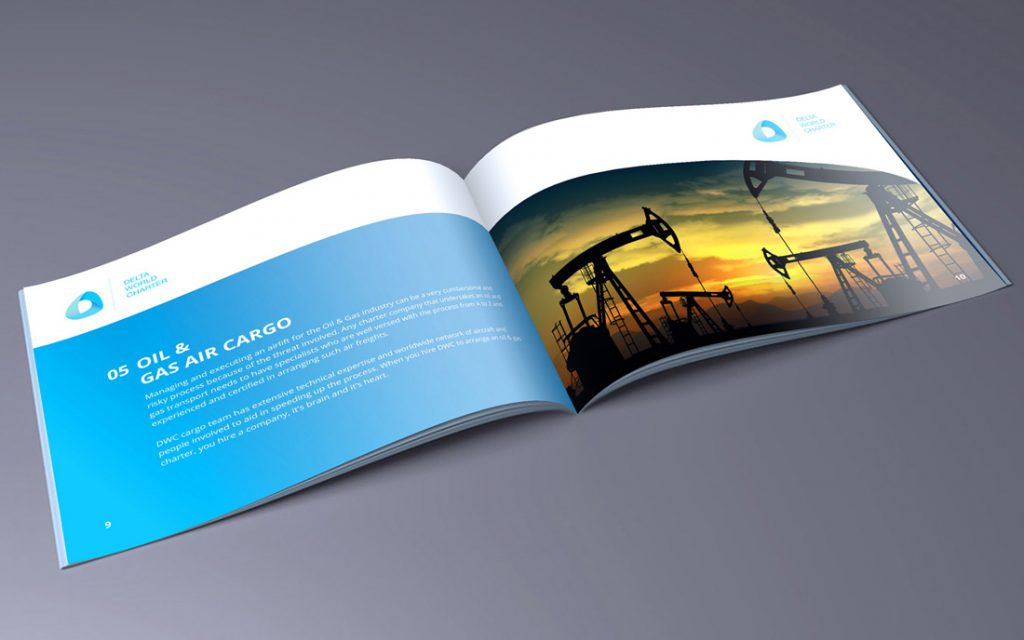 Cargo Department Brochure for DWC - Tessella Design Studio, Graphic Design
