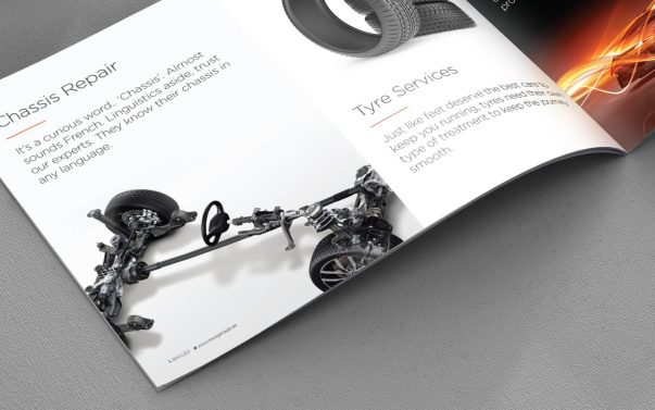 Leo`s Garage Corporate Brochure - Tessella Design Studio, Graphic Design