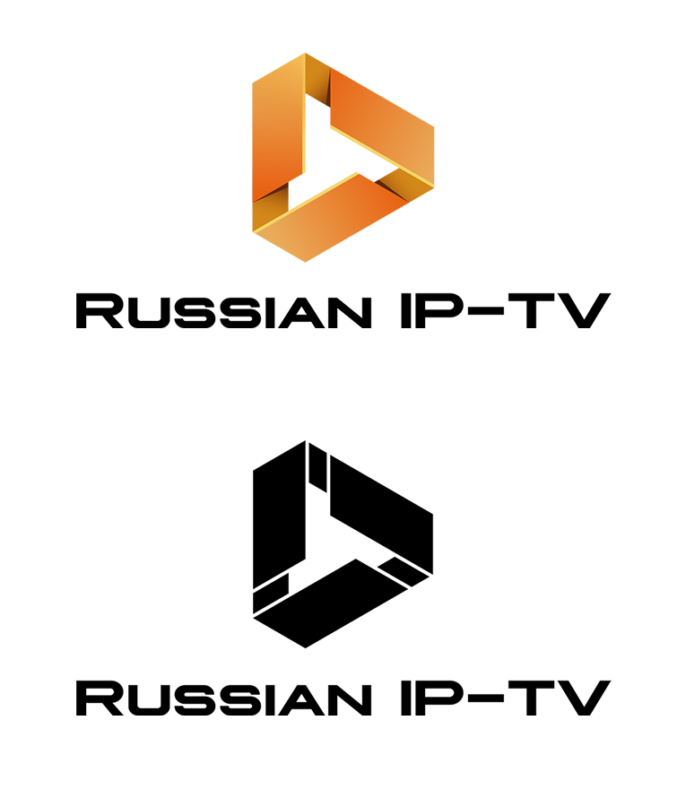 Russian TV in Dubai logo design
