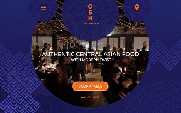 Сайт для Ресторана ОШ в Дубае - Студия Дизайна Тесселла, Веб-дизайн