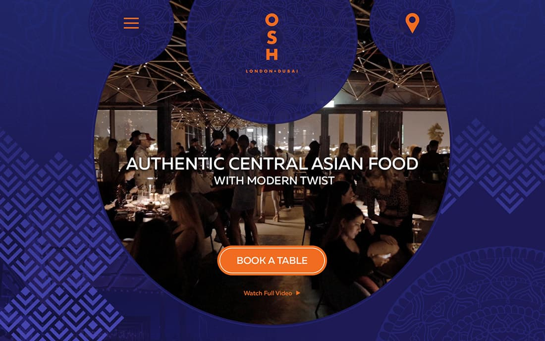 Сайт для Ресторана ОШ в Дубае - Студия Дизайна Тесселла