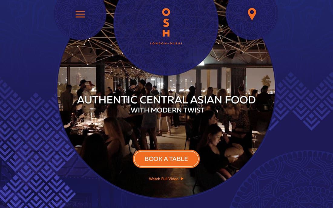 OSH Dubai Website - Tessella Design Studio
