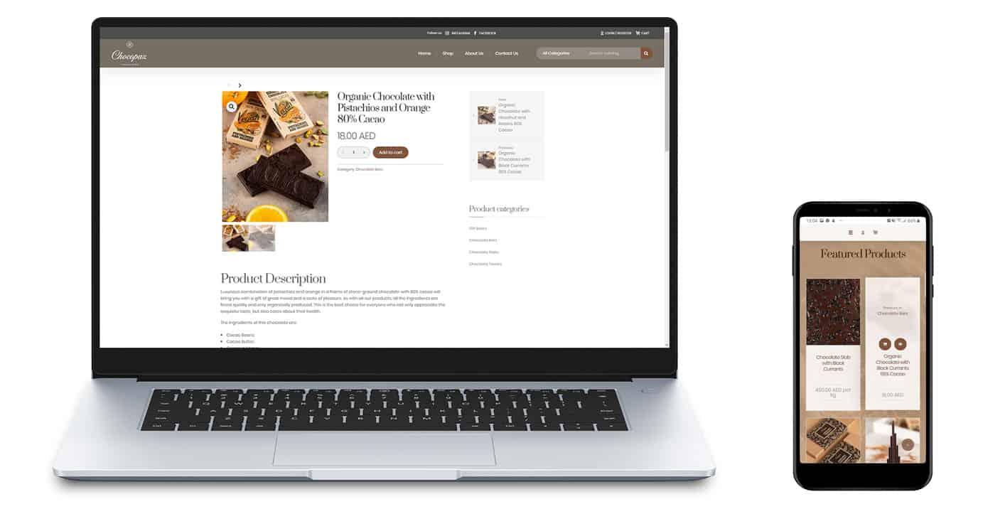 Chocopaz Website development