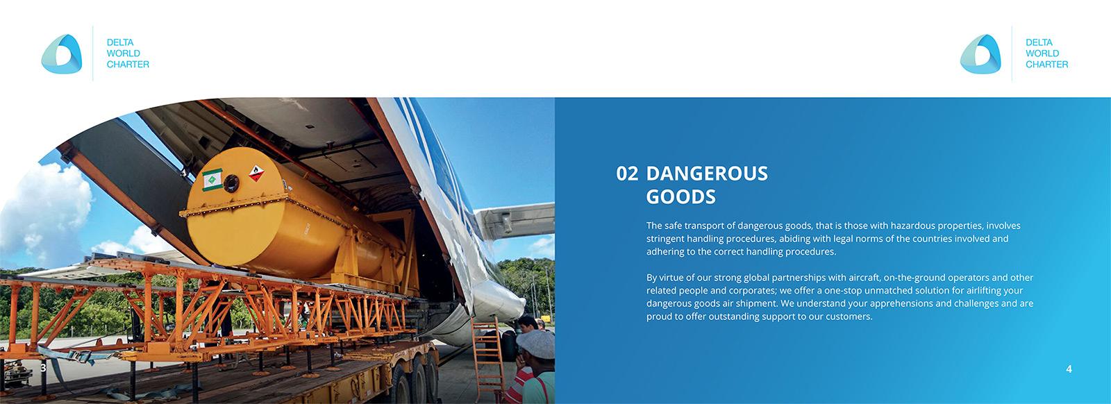 DWC Cargo Brochure design