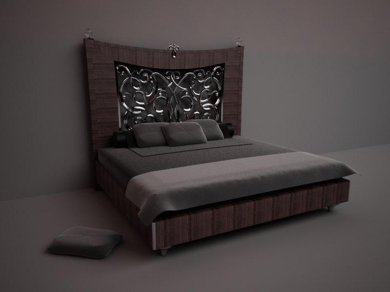 3D Design Bed render