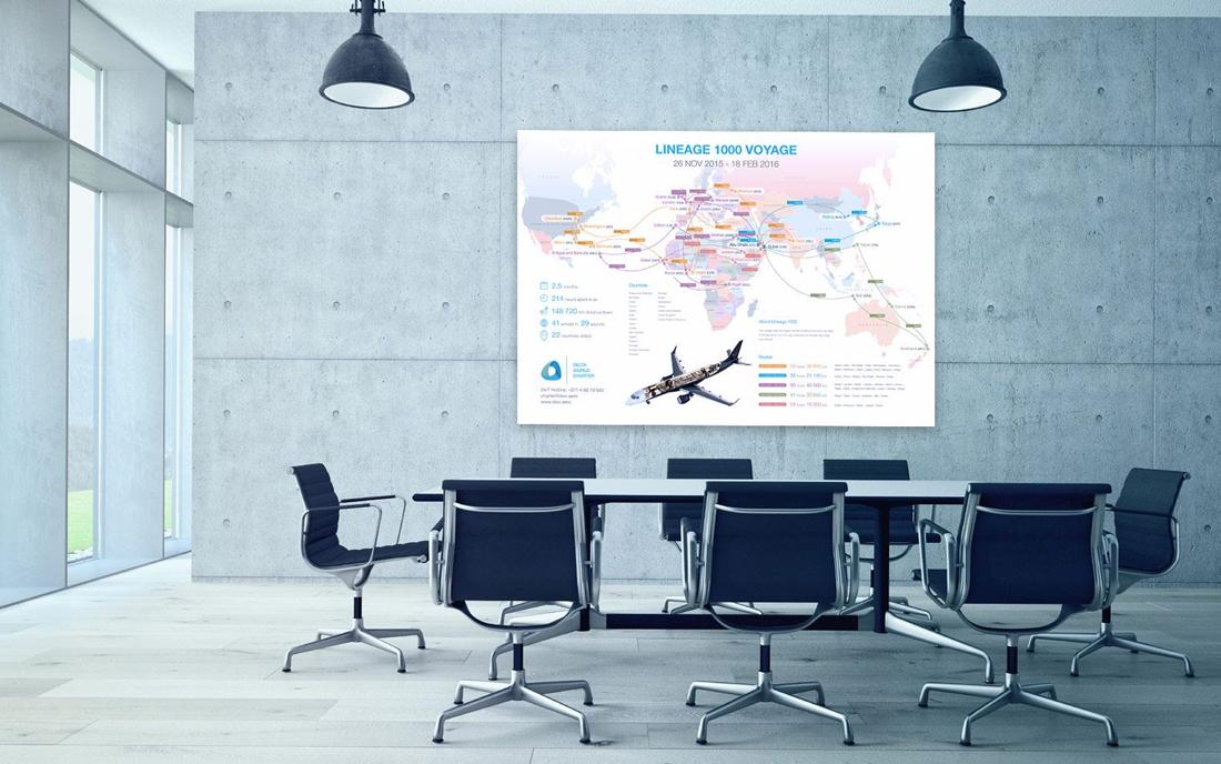 Lineage 1000 Voyage Map - Tessella Design Studio