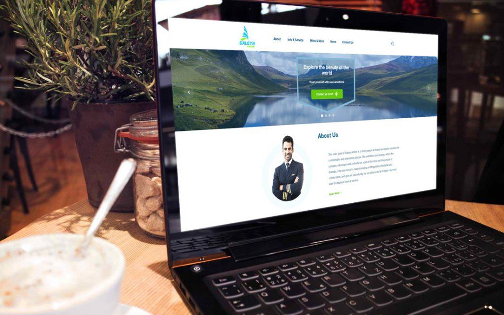Galeyr Airline Website - Tessella Design Studio, Web Design