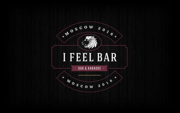 Логотип I Feel Bar в Москве - Студия Дизайна Тесселла, Графический Дизайн
